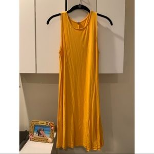 Gold old navy swing dress